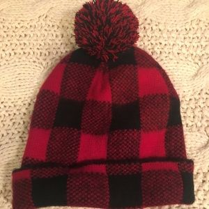 Red + Black Terry Hat